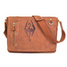 Elder scrolls leather messenger bag!!!