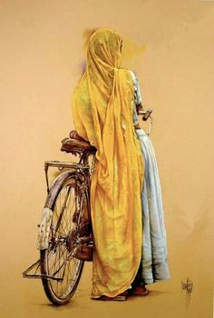 Awesome Paintings by 'Jose Luis Fuentetaja' - Fine Art and You - Painting Indian Women Painting, Indian Art Paintings, Indian Artist, Cool Paintings, Watercolor Paintings, Watercolors, Rajasthani Painting, India Art, Woman Painting