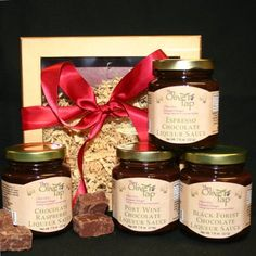 A great  gift for any chocolate lover in your life, The Olive Tap (http://www.yelp.com/biz/the-olive-tap-highland-park) has one sweet gift box featuring four of their gourmet chocolate liqueur sauces bundled in one! $36.50