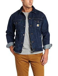 Carhartt Men's  Denim Jean Jacket Unlined,Authentic Blue  (Closeout),Large Carhartt ++ You can get best price to buy this with big discount just for you.++