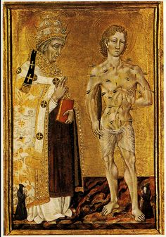 Giovanni di Paolo, St. Fabian and St. Sebastian.c.1465.[NG.London] | Flickr - Photo Sharing!
