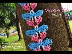 MARIPOSA Hook Only bracelet tutorial. Rainbow loom bracelet