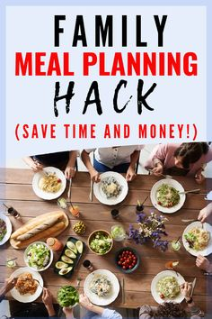 Struggling to start meal planning?  Try this easy family meal planning hack!  Save time and save money on meals. #mealplanning #hack