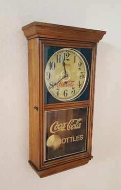 Restored Vintage Authentic Coca-Cola Wall Clock with Precision Takane quartz Clockwork & Pendulum Drive – Solid Oak Case by TheClockGuys on Etsy