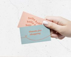 Small Business Cards, Business Thank You Cards, Etsy Business Cards, Thank You Card Design, Name Card Design, Business Branding, Business Card Design, Thank U Cards, Purchase Card