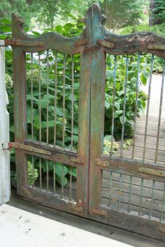 Rustic weathered garden gate