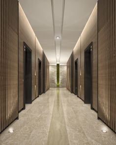 Mimar Interiors Lift lobby lighting. Wall graze. corridor