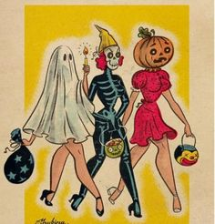 ✨🎃💀🕸️👻 every spooky, pretty, yummy, cute, and fun side of halloween. Retro Halloween, Fall Halloween, Vintage Halloween Cards, Happy Halloween, Vintage Halloween Costumes, Halloween Quotes, Vintage Halloween Decorations, Costume Halloween, Samhain Decorations