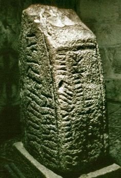 Irish Ogham stone ~ Ancient written language