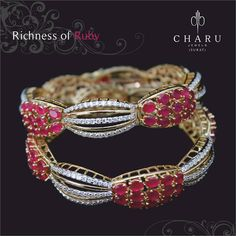 Fusion of and in the by Cute Jewelry, Bridal Jewelry, Gold Jewelry, Jewelry Box, Diamond Jewellery, Diamond Bracelets, Bangle Bracelets, Tiffany Jewellery, Ruby Bangles