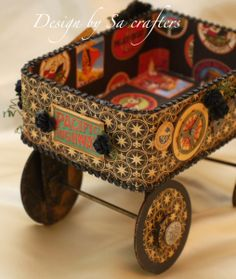 cardboard wagon: I wonder if I could make this from an older suitcase?