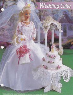 Hochzeitstorte Annies Mode Puppe Kunststoff Canvas Muster