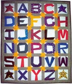 Free pattern for paper pieced alphabet by Dori Hawks @ The Quilter Community - each letter avail as a separate free pattern - I am going to try this for a bag. Free Baby Quilt Patterns, Paper Pieced Quilt Patterns, Free Pattern, Sewing Patterns, Paper Patterns, Quilting Patterns, Quilting Tutorials, Quilting Projects, Quilting Designs