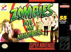 Zombies Ate My Neighbors (Super Nintendo, SNES) - Reproduction Cart w/ Custom Mini Box and Manual