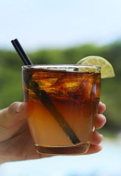 Dark and Stormy - ginger beer, dark rum, and lime