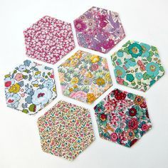 Liberty Tana Lawn hexagons for patchwork by veryberryhandmade Liberty Of London Fabric, Liberty Fabric, Making 10, English Paper Piecing, Pattern Making, Give It To Me, Arts And Crafts, Quilts, Sewing