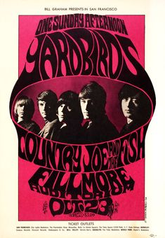 The Yardbirds at The Fillmore (west) Auditorium, October 23rd, l966