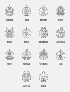 Free City Icons   Web Design Freebies