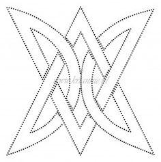 Triangular knot motif: Tin Punch Pattern.