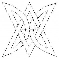 Triangular knot motif: Tin Punch Pattern.