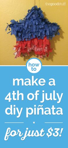Give the kiddos something exciting to do at your summer barbecue! This of July DIY piñata is the perfect game, and it's so easy — and cheap! 4th Of July Games, 4th Of July Party, Fourth Of July, Games For Kids, Diy For Kids, Crafts For Kids, Bbq Games, America Independence Day, All About Me Preschool