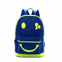 Smile Face Printed Women's Backpack