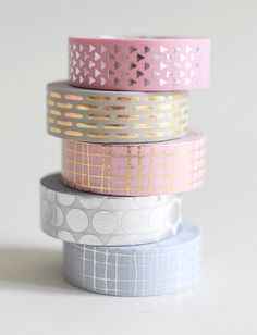 Metallic Washi tape gold masking tape confetti by MightyPaperShop