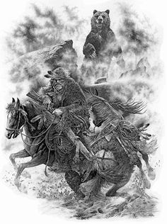 Bill O'Neill Art Prints -- Trapper-Grizzly