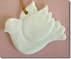 Winter favor idea - Porcelain Dove Ornament