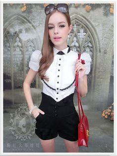 Mango Doll - Bubble Short Sleeve Shirt, $36.00 (http://www.mangodoll.com/all-items/bubble-short-sleeve-shirt/)