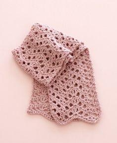 Free Crochet Pattern: Modern Lace Scarf.