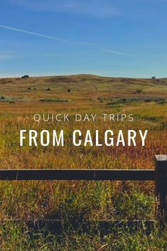 Day Trips from Calgary - one hour or less Great places to take the kids while visiting Calgary, Alberta. One Day Trip, Weekend Trips, Day Trips, Places To Travel, Places To See, Travel Destinations, Calgary, Canadian Travel, Canadian Rockies