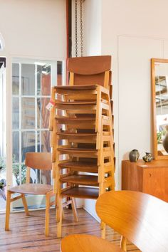 Danish stacking chairs. 50 in stock. Just landed. Awesome design and comfort