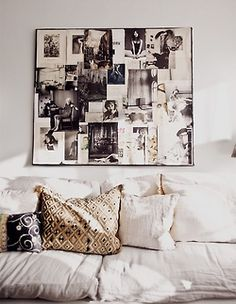 Loving the collage above the couch.