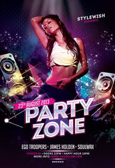 Party Zone Flyer by styleWish on Graphicriver (Download the PSD)