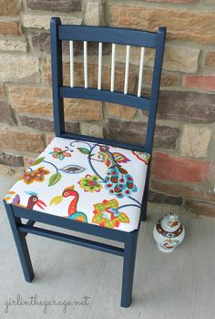 Love the idea of refinishing my own chairs for the dining room table - getting an eclectic look