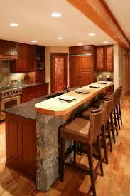 Image result for kitchen island with stone