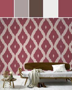 Kellys Ikat wallpaper by Kelly Hoppen  Designed By Graham & Brown via Stylyze