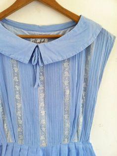 1940s1950s LOVELY sky blue lace dress by croatiavintage on Etsy, $72.00