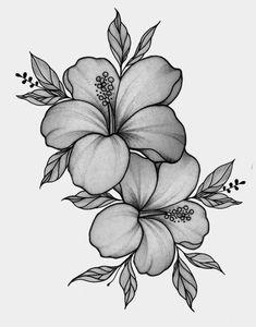 Henna Tattoo Designs Simple, Simplistic Tattoos, Floral Tattoo Design, Tattoo Designs Foot, Hawaiian Flower Drawing, Hawaiian Flower Tattoos, Lily Flower Tattoos, Tatouage Plumeria, Plumeria Tattoo