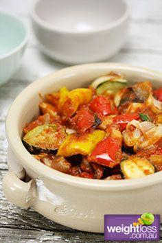 Healthy Dinner Recipes:  Ratatouille. #HealthyRecipes #DietRecipes #WeightlossRecipes weightloss.com.au
