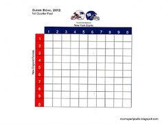 Super Bowl Pools Ideas squares Superbowl Pool