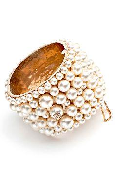 Chanel pearl cuff