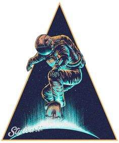 Astronaut Skateboarder DESIGN BY Bartwinterson