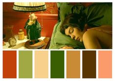 12 Colour Palettes Taken From Visually Stunning Films: Amelie – directed by Jean-Pierre Jeunet Gorgeous and whimsical romantic comedy, with a nostalgic take on style. It's a warm film infused with reds and greens. Movie Color Palette, Colour Pallette, Colour Schemes, Color In Film, Cinema Colours, Color Script, Cinematic Photography, Film Inspiration, Film Stills