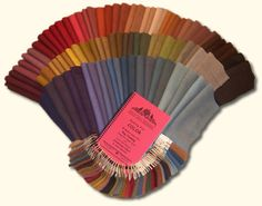 """""""Dyeing For Color"""" 44 Mellow Colors formula booklet with swatches. Holly Hill Designs : Hooked Rugs by Susan Quicksall Wool Yarn, Wool Rug, Wool Felt, Wool Fabric, Wool Embroidery, Wool Applique, Primitive Colors, Wooly Bully, Felted Wool Crafts"""