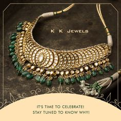 Exciting times are coming! Get ready to be reintroduced to the magnificence of well crafted jewellery! A lot is going to happen to your favourite KK Jewels and it's all going to be beautiful. Stay tuned to this page for extremely interesting updates. #KKJewels #Ahmedabad #Jewellery #Celebrationtimes #Excitement #StayTuned