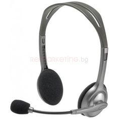 Слушалки Logitech Stereo H110 - мострени бройки, нарушена или липсваща опаковка, 3 месеца гаранция