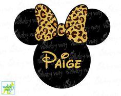 Disney Leopard Print Safari Minnie Printable Iron On Transfer or Use as Clip Art - DIY Disney Safari Shirt Animal Kingdom Cheetah Print by TheWallabyWay on Etsy