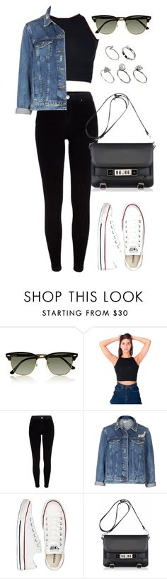 """Untitled #790"" by briarachele ❤ liked on Polyvore featuring Ray-Ban, American Apparel, River Island, Topshop, Converse, Proenza Schouler and ASOS"
